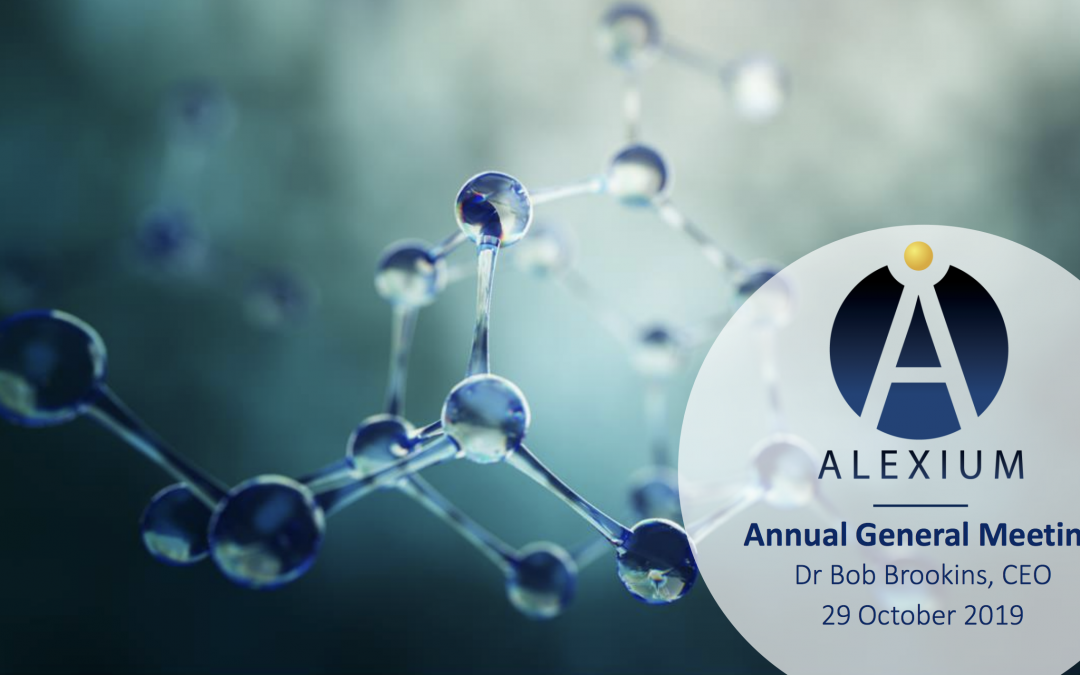 Alexium 2019 Annual General Meeting
